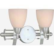 Forte Lighting Two Light Vanity Light; Brushed Nickel / Satin Opal