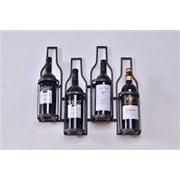 Welland Industries LLC 4 Bottle Wall Mounted Wine Rack