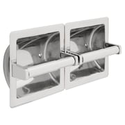 Franklin Brass Recessed Twin Paper Holder, Horizontal (977)