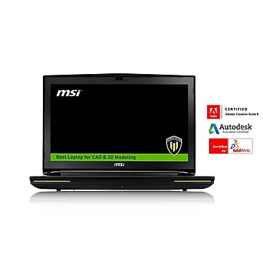 MSI – Workstation WT72 6QM-425US, 17,3 po, Intel Xeon E3-1505, 32 Go, SSD 256 Go, 1To, Quadro M5000M, Win10 Pro, anglais