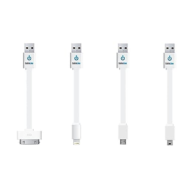 CableLinx™ Value Pack of 4 USB Charge & Sync Cables, White
