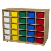 Wood Designs Mobile Island 25 Compartment Cubby; Assorted Tray
