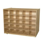 Wood Designs Mobile Island 25 Compartment Cubby; No Tray