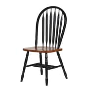 Sunset Trading Sunset Selections Side Chair; Black / Cherry