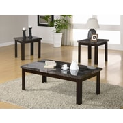 Milton Green Star 3 Piece Coffee Table Set; Black