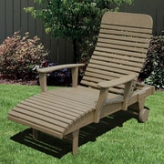 Little Cottage Company Chaise Lounge; Tudor Brown/Black