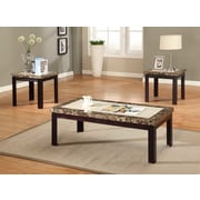 Milton Green Star 3 Piece Coffee Table Set; 2-Tone