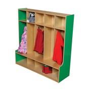 Wood Designs 1 Tier 5-Section Seat Locker; Green Apple