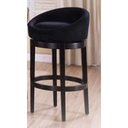 Armen Living Igloo 30'' Swivel Bar Stool; Black