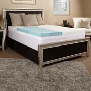 Luxury Solutions 5.5'' Gel Memory Foam and Fiber Mattress topper; Queen