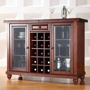 Crosley Alexandria Cambridge Bar Cabinet with Wine Storage; Vintage Mahogany