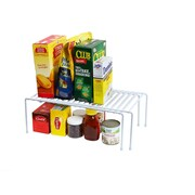 YBM Home Expandable Adjustable Counter and Cabinet Shelf Organizer