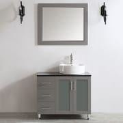 Vinnova Tuscany 36'' Single Vanity Set with Mirror; Grey