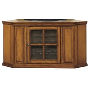 Woodhaven Hill Riley Holliday Corner Plasma TV Stand; Burnished Oak