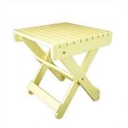 Manchester Wood Solid Maple  Adirondack Side Table; Lemon Yellow