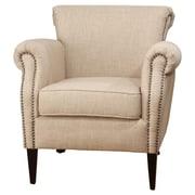 Jofran Emma Club Chair; Wheat / Antique Brass