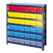 Quantum Open Shelving Storage System with Various Euro Drawers; Blue