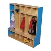 Wood Designs 1 Tier 5-Section Seat Locker; Blueberry