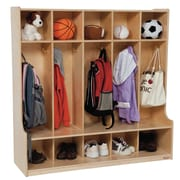 Wood Designs 1 Tier 5-Section Seat Locker; Natural