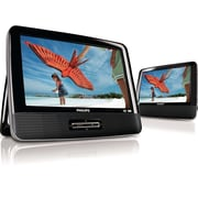 Philips 9-inch - Dual Screen Portable DVD Player, Black - Factory Refurbished