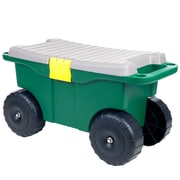 Pure Garden 20 in Plastic Garden Storage Cart & Scooter
