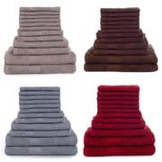 Lavish Home 12 Piece 100% Cotton Towel Set, Assorted Colors