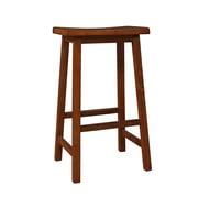 "Monarch Specialties saddle Seat Barstool, Walnut, 29""H, 2 stools (I 1542)"