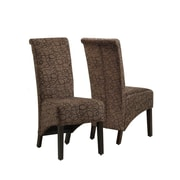 "Monarch Specialties 2 40""H Brown swirl Fabric Dining Chairs (I 1788BR)"