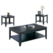 Monarch Specialties Three-Piece Table Set, Cappucino (I 7985)