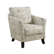 Monarch Specialties Vintage French Fabric Accent Chair (I 8007)