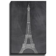 Bashian Home Eiffel Chalk Board by Rosa Vila Graphic Art on Wrapped Canvas; 36'' H x 24'' W x 2'' D