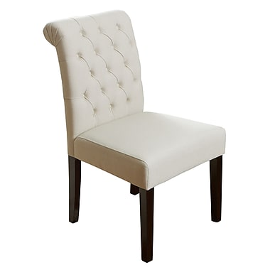 Home Loft Concepts Cullon Tufted Parsons Chair; Ivory
