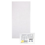 Triton Products Custom Painted Heavy Duty Tempered Round Hole Pegboards; White