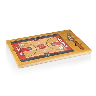 Picnic Time NCAA Icon Cutting Cheese Tray; University Of Miami Hurricanes