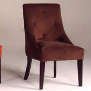 Bernards Microfiber Parsons Chair; Chocolate