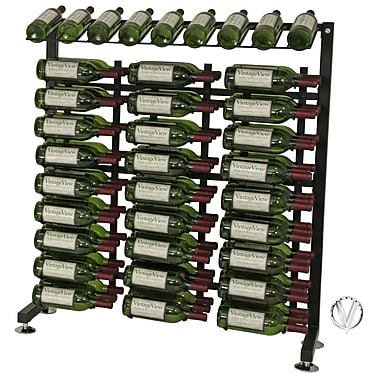 VintageView IDR Series 90 Bottle Floor Wine Rack; Black
