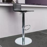 Bellini Modern Living Paula Adjustable Height Swivel Bar Stool with Cushion; Black