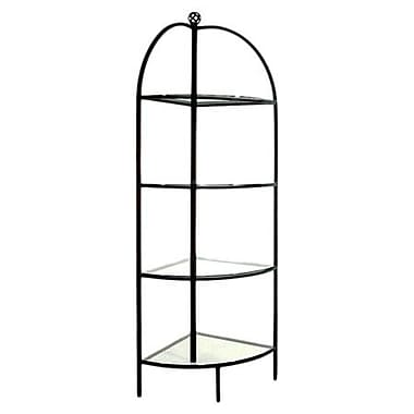 Grace Corner Baker's Rack; Satin Black