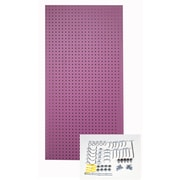 Triton Products Custom Painted Heavy Duty Tempered Round Hole Pegboards; Orchid