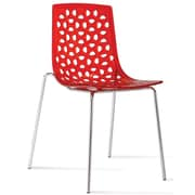 Aeon Furniture Contemporary Dakota Side Chair (Set of 2); Red