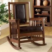 Hokku Designs Valley Leatherette Arm Rocking Chair