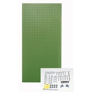 Triton Products Custom Painted Heavy Duty Tempered Round Hole Pegboards; Green