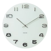 Present Time Karlsson 15'' Vintage Glass Wall Clock