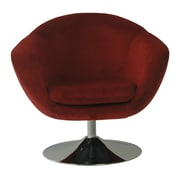 Fox Hill Trading Comet Disc Base Bella Barrel Chair; Berry