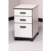 Fleetwood Solutions 3-Drawer Mobile File Cabinet; Beige Linen/Black/Black