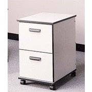 Fleetwood Solutions 2-Drawer Mobile File Cabinet; Light Oak/Light Oak/Black
