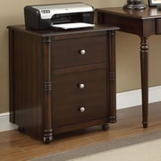 Wildon Home   Jacqueline 2-Drawer Mobile Vertical File; Walnut
