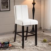 NOYA USA Luxury 24'' Bar Stool with Cushion; Creamy White