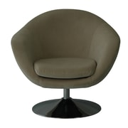 Fox Hill Trading Comet Disc Base Bella Barrel Chair; Buckwheat
