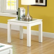 Hokku Designs Senna End Table; White